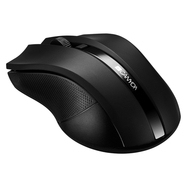 2.4GHz wireless Optical Mouse with 4 buttons, DPI 800/1200/1600, Black 2