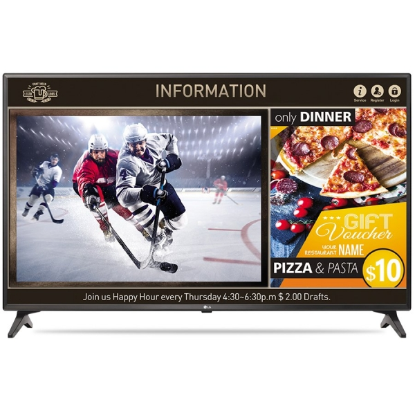 """TV/Monitor LED LG 43LV640S 43"""", 1920x1080, 400 cd/m2, HDMI In, USB (2), CI Slot Speakers: 2x10W, tuner DVB-T2/C/S2, VESA, Content Manager, Group Manager 0"""