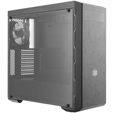 """PC Chassis COOLER MASTER MasterBox MB600L, without PSU, Black, Steel, Plastic, ATX, 2xCombo 3.5""""/2.5"""", Front: 2x120, 2x140, Rear: 1x120, Liquid Cooling Support, 464x212x454.5mm [0]"""