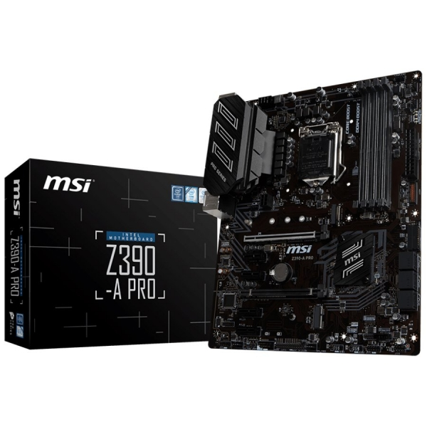 """MSI Main Board Desktop Z390-A PRO LGA1151,4DDR4, 2PCI-Ex16, 4PCI-Ex1,1M.2, 6SATA3, 2USB3.1 GEN2 ,6USB3.1 """"Z390-A_PRO"""" 0"""