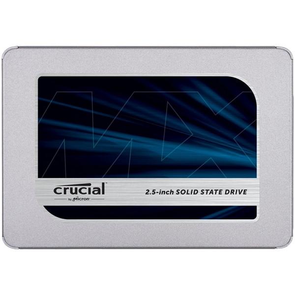 """CRUCIAL MX500 2TB SSD, 2.5# 7mm (with 9.5mm adapter), SATA 6 Gbit/s, Read/Write: 560 MB/s / 510 MB/s, Random Read/Write IOPS 95K/90K """"CT2000MX500SSD1"""" 0"""