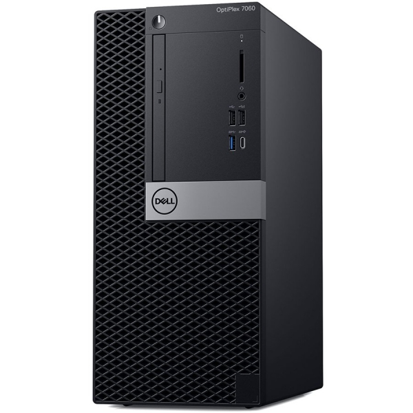 Dell Optiplex 7060 MT, Intel Core i7-8700(12MB Cache, 4.60GHz), 16GB(2x8GB) DDR4 2666MHz, 256GB(M.2) SSD, DVD+/-RW, AMD Radeon RX 550 4GB, Dell USB Optical Mouse, KB216 Keybd, Win 10 Pro(64bit), 3Yr N 0