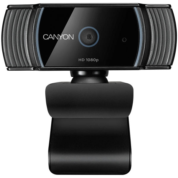 Webcam Canyon 1080P full HD 2.0Mega auto focus webcam with USB2.0 connector, 360 degree rotary view scope, built in MIC, IC Sunplus2281, Sensor OV2735 2