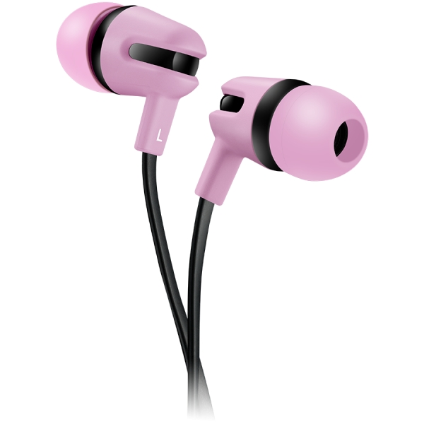 CANYON Stereo earphone with microphone, 1.2m flat cable, Orange, 22*12*12mm, 0.013kg 0
