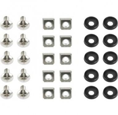 "19\'\' rack mounting set (bolt, nut, washer), 10 pcs set ""19A-FSET-01"" 0"