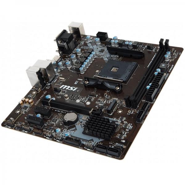 MSI Main Board Desktop A320 (SAM4, 2xDDR4, PCI-Ex16, 2xPCI-Ex1, USB3.1, USB2.0, SATA III, VGA, DVI-D, GLAN) mATX Retail 1