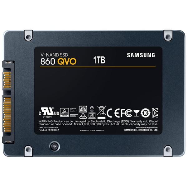 """SSD Samsung, 2TB, 860 QVO, retail, SATA3, R/W speed: 550/520 MB/s """"MZ-76Q2T0BW"""" 1"""