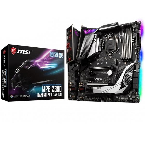 MSI Main Board Desktop Z390 (S1151, 4xDDR4, 3xPCI-Ex16, 3xPCI-Ex1, USB3.1, USB Type-C, USB2.0, 6xSATA III, 2xM.2, RAID, HDMI, DP, GLAN, RGB) ATX Retail 0