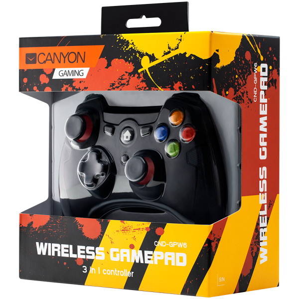 2.4G Wireless  Controller with Dual Motor, Rubber coating,    2PCS AA Alkaline battery   ,support  PC X-input mode/D-input mode, PS3, Android/nano size dongle,black [3]