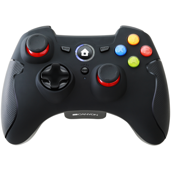 2.4G Wireless  Controller with Dual Motor, Rubber coating,    2PCS AA Alkaline battery   ,support  PC X-input mode/D-input mode, PS3, Android/nano size dongle,black [0]