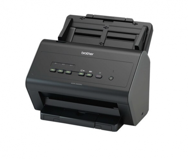 Scanner Brother ADS-2400N, A4, 600 dpi, ADF single pass 50 de coli, 30 ipm, 60 ipm duplex, USB si retea, Negru 0
