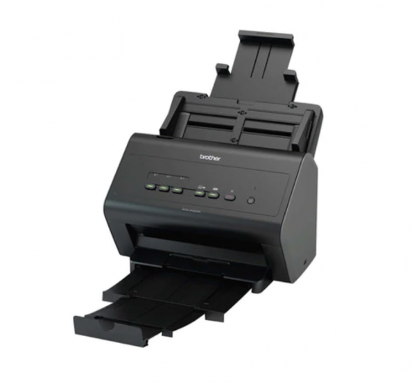 Scanner Brother ADS-2400N, A4, 600 dpi, ADF single pass 50 de coli, 30 ipm, 60 ipm duplex, USB si retea, Negru 1