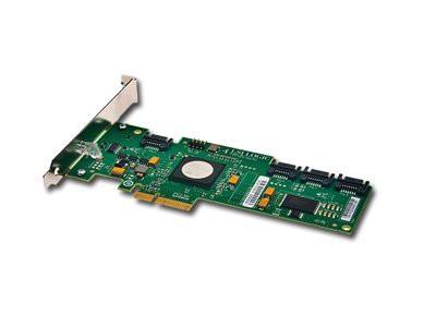 Intel RAID Controller SASWT4I (4port LSI SAS1068E, 3Gb/s SAS/SATA, entry-level HW RAID 0/1/1E/10E, PCIe x4, low profile, half-length MD2 form factor, LP Bracket included, NO cables) [1]