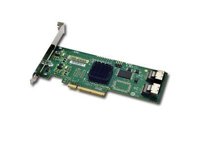 Intel RAID Controller SASUC8I (8port LSI SAS1068E, 3Gb/s SAS/SATA, entry-level HW RAID 0/1/1E/10E, PCIe x8, low profile, half-length MD2 form factor, LP Bracket included, 2 connectors Mini-SAS SFF-808 [1]