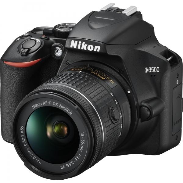Nikon D3500 Aparat Foto DSLR DX 24,2 MP Kit AF-P 18-55mm VR Negru 0
