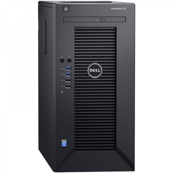 Server DELL PowerEdge T30 Tower, Procesor Intel® Xeon® E3-1225 v5 3.3GHz Skylake, 1x 8GB UDIMM DDR4 2133MHz, 1x 1TB 7.2K SATA HDD 3.5 inch, LFF 3.5 inch, 3Yr NBD 0