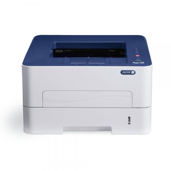 Imprimanta laser mono Xerox Phaser 3260, Viteza 28 ppm, Rezolutie 600x600, Procesor 600 MHz, Memorie 256 MB, Limbaje de printare Emulari PCL 5e si 6, emulare PostScript 3, Alimentare cu hartie 250 col 0
