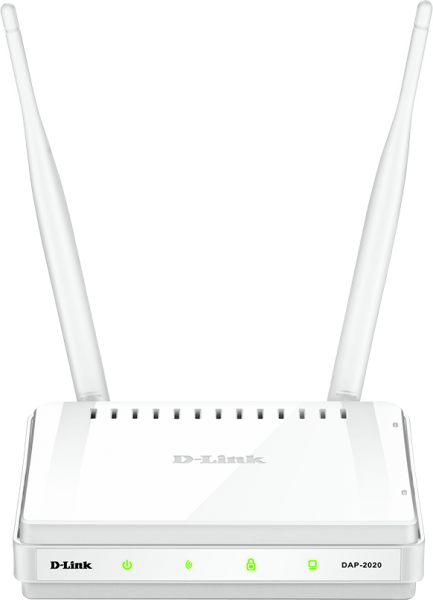 """ACCESS POINT D-LINK wireless  300Mbps, port 10/100Mbps, 2 antene externe, """"DAP-2020"""" (include timbru verde 0.5 lei) 0"""