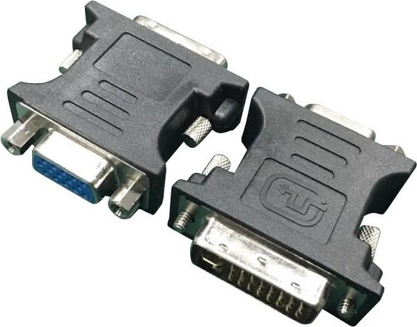 """Adaptor DVI la VGA (T/M) GEMBIRD, black,  """"A-DVI-VGA-BK"""" 0"""