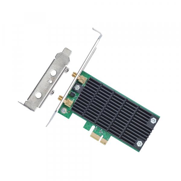 "ADAPTOR RETEA TP-LINK wireless, PCI-Express la 2 antena externa, 1200Mbps, Dual Band AC1200, 2.4GHz & 5GHz, ""Archer T4E"" 1"
