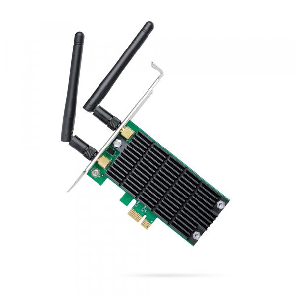 "ADAPTOR RETEA TP-LINK wireless, PCI-Express la 2 antena externa, 1200Mbps, Dual Band AC1200, 2.4GHz & 5GHz, ""Archer T4E"" 0"