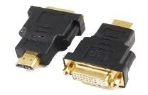 "ADAPTOR video GEMBIRD, HDMI (T) la DVI-I DL (M), conectori auriti, black, ""A-HDMI-DVI-3"" 0"