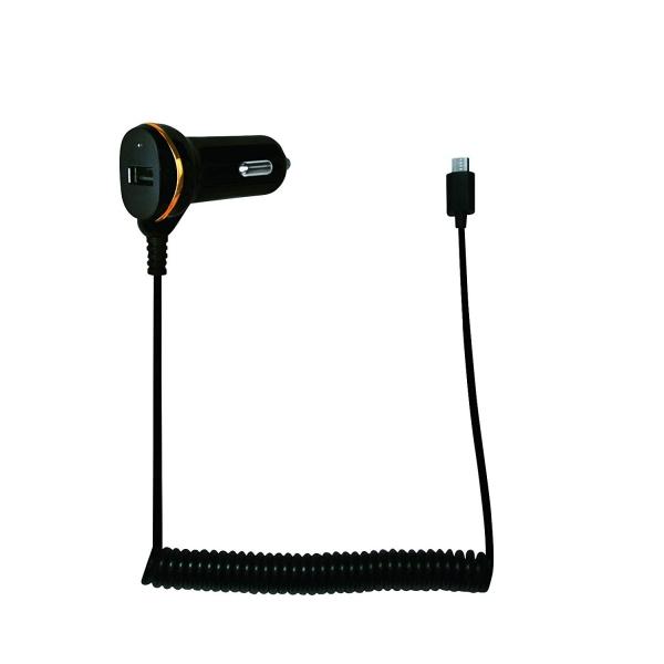 """ALIMENTATOR AUTO LOGILINK, 2 x USB 2.0, pt. bricheta auto 1 x USB 2.0, cablu micro-USB 1 x USB 2.0, 0.4m cablu, maxim 2.1A, black, """"PA0147"""" 1"""