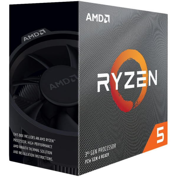AMD CPU Desktop Ryzen 5 6C/6T 3500X (3.6/4.1 Boost GHz,35MB,65W,AM4) box, with Wraith Stealth cooler 0