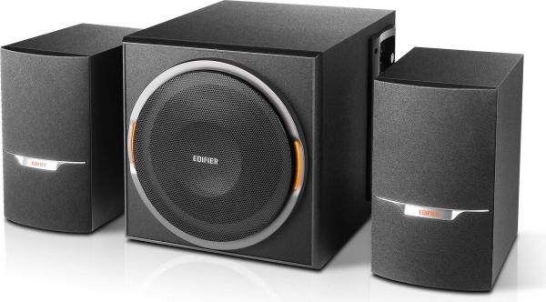 BOXE EDIFIER 2.1, RMS:  38W (8 x 2W, 1 x 22W), bluetooth, volum, bass, black; raport semnal-zgomot: #85dBA, frecventa raspuns - sateliti: 150Hz - 20kHz, subwoofer: 50Hz - 180kHz, cu port USB/SD, FM tu 0