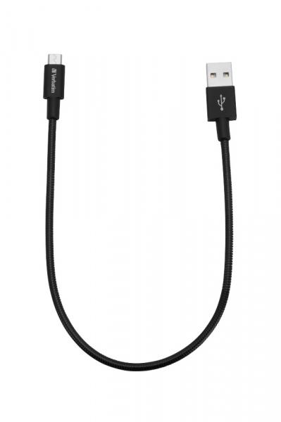 """CABLU alimentare si date VERBATIM, pt. smartphone, USB 2.0 (T) la Micro-USB 2.0 (T),  30cm, premium, MFi certified, cablu metalic, negru, """"48866"""" 1"""