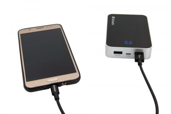 """CABLU alimentare si date VERBATIM, pt. smartphone, USB 2.0 (T) la Micro-USB 2.0 (T),  30cm, premium, MFi certified, cablu metalic, negru, """"48866"""" 2"""