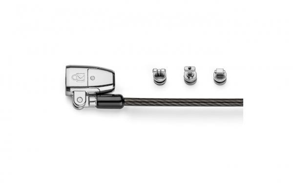 """CABLU securitate KENSINGTON pt. notebook 3-in-1 slot standard / Nano / Wedge, cheie standard, conectare one-click,1.8m, cablu otel carbon, permite pivotare si rotire cablu, """"ClickSafe 2.0"""" """"K68102EU"""" 3"""