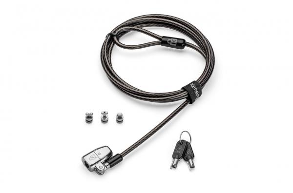 """CABLU securitate KENSINGTON pt. notebook 3-in-1 slot standard / Nano / Wedge, cheie standard, conectare one-click,1.8m, cablu otel carbon, permite pivotare si rotire cablu, """"ClickSafe 2.0"""" """"K68102EU"""" 0"""