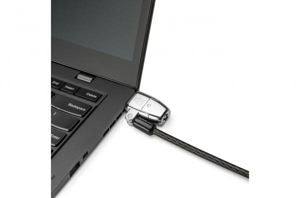 """CABLU securitate KENSINGTON pt. notebook 3-in-1 slot standard / Nano / Wedge, cheie standard, conectare one-click,1.8m, cablu otel carbon, permite pivotare si rotire cablu, """"ClickSafe 2.0"""" """"K68102EU"""" 4"""