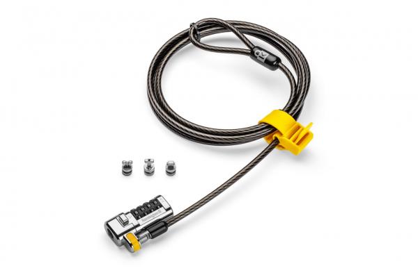 """CABLU securitate KENSINGTON pt. notebook 3-in-1 slot standard / Nano / Wedge, cifru cu patru discuri, conectare one-click,1.8m, cablu otel carbon, permite pivotare si rotire cablu, """"ClickSafe 2.0"""" """"K6 0"""