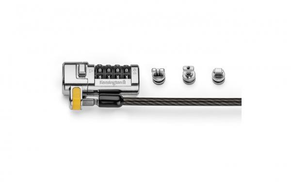 """CABLU securitate KENSINGTON pt. notebook 3-in-1 slot standard / Nano / Wedge, cifru cu patru discuri, conectare one-click,1.8m, cablu otel carbon, permite pivotare si rotire cablu, """"ClickSafe 2.0"""" """"K6 1"""