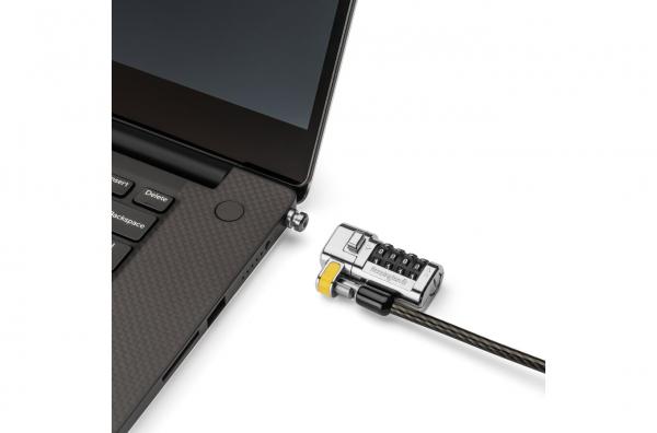 """CABLU securitate KENSINGTON pt. notebook 3-in-1 slot standard / Nano / Wedge, cifru cu patru discuri, conectare one-click,1.8m, cablu otel carbon, permite pivotare si rotire cablu, """"ClickSafe 2.0"""" """"K6 2"""
