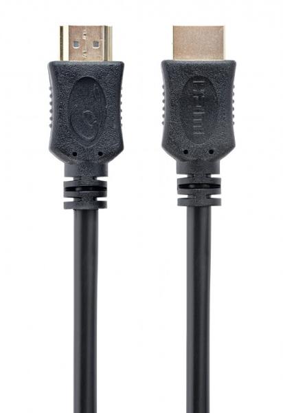 "CABLU video GEMBIRD, HDMI (T) la HDMI (T), 0.5m, conectori auriti, rezolutie maxima 4K (3840 x 2160) la 60 Hz, negru, ""CC-HDMI4L-0.5M"" 0"