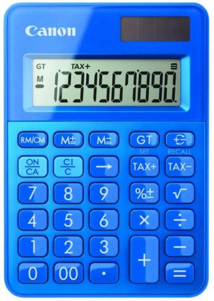 """Calculator birou Canon LS100KMBL, 10 digiti, Dual power, culoare: albastru. """"0289C001AB"""" 0"""