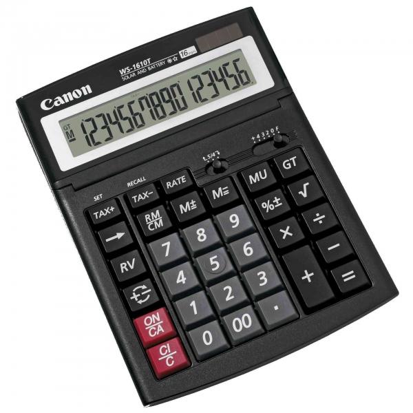 "Calculator de birou Canon WS1610T, 16 Digit ""BE0696B001AA"" 0"