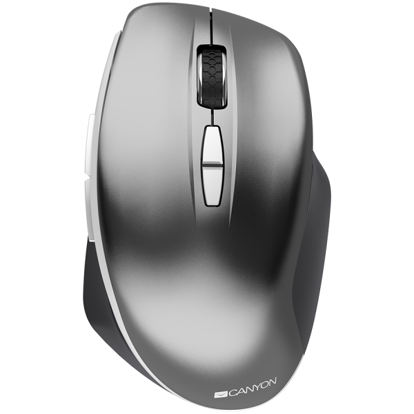 Canyon  2.4 GHz  Wireless mouse ,with 7 buttons, DPI 800/1200/1600, Battery:AAA*2pcs  ,Dark gray72*117*41mm 0.075kg 0
