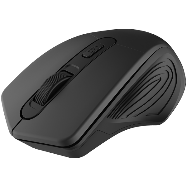 CANYON 2.4GHz Wireless Optical Mouse with 4 buttons, DPI 800/1200/1600, Black, 115*77*38mm, 0.064kg [1]