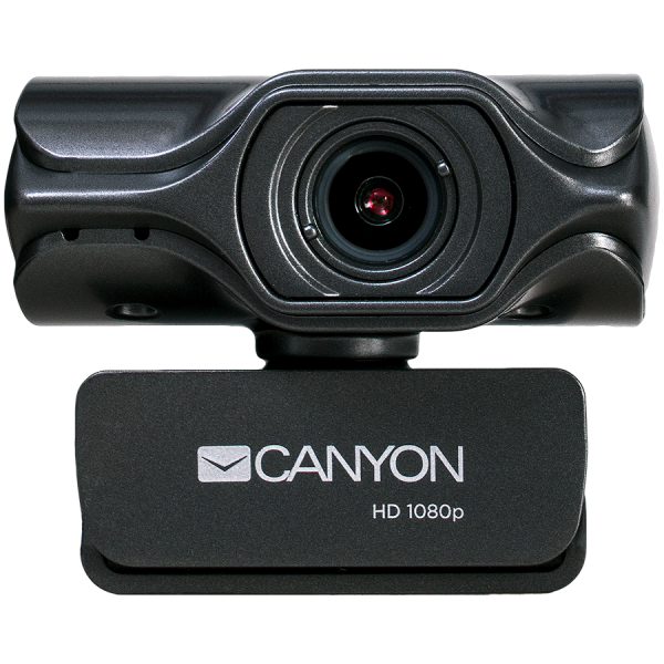 CANYON 2k Ultra full HD 3.2Mega webcam with USB2.0 connector, built-in MIC, Manual focus, IC SN5262, Sensor Aptina 0330, viewing angle 80°, with tripod, cable length 2.0m, Grey, 61.1*47.7*63.2mm, 0.18 0