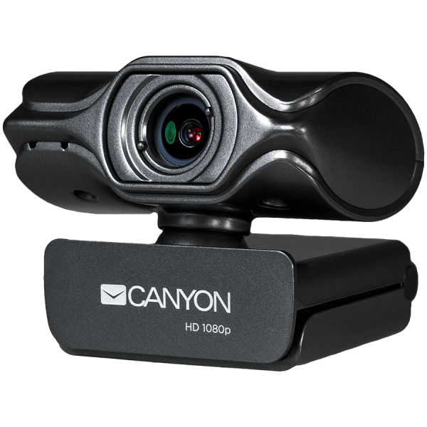 CANYON 2k Ultra full HD 3.2Mega webcam with USB2.0 connector, built-in MIC, Manual focus, IC SN5262, Sensor Aptina 0330, viewing angle 80°, with tripod, cable length 2.0m, Grey, 61.1*47.7*63.2mm, 0.18 1