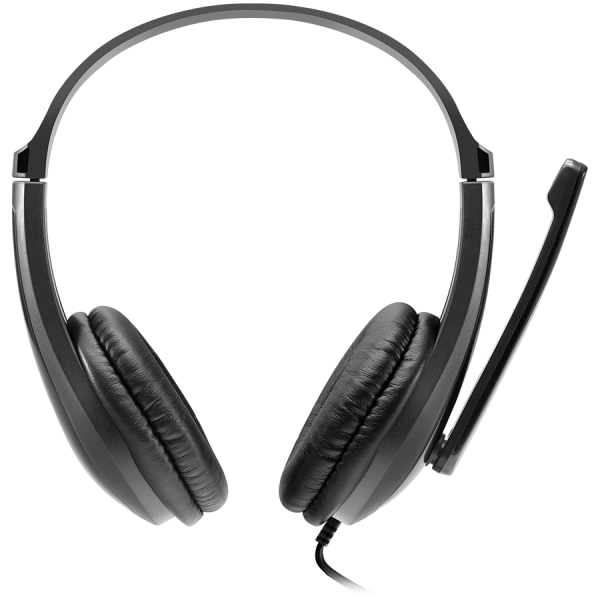 CANYON HSC-1 basic PC headset with microphone, combined 3.5mm plug, leather pads, Flat cable length 2.0m, 160*60*160mm, 0.13kg, Black 1