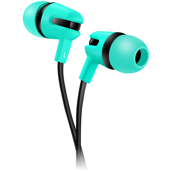 CANYON Stereo earphone with microphone, 1.2m flat cable, Green, 22*12*12mm, 0.013kg 0