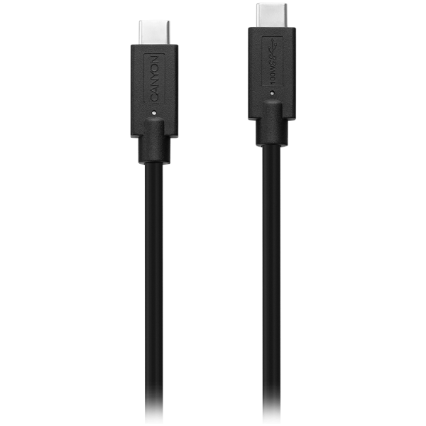 CANYON Type C USB3.1 standard cable, PD3.0 100W, with full feature(video, audio, data transmission and PD charging), OD 4.8mm, cable length 1m, Black, 13*9*1000mm, 0.043kg 2