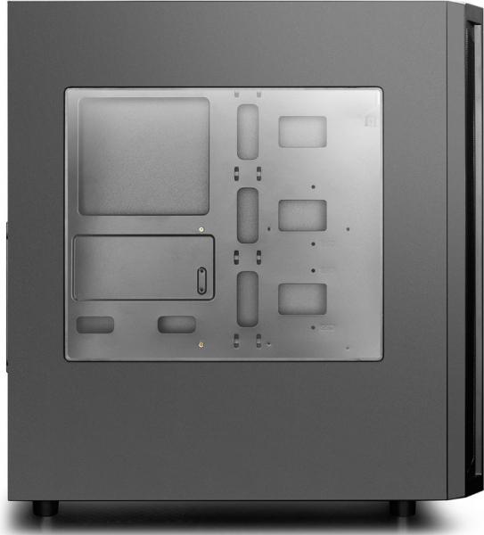 """CARCASA DEEPCOOL ATX  Mid-Tower, 1* 120mm fan (inclus), front audio & 1x USB 3.0, 2x USB 2.0, black """"D-SHIELD V2"""" 5"""