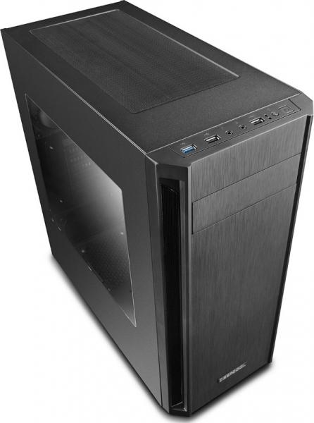"""CARCASA DEEPCOOL ATX  Mid-Tower, 1* 120mm fan (inclus), front audio & 1x USB 3.0, 2x USB 2.0, black """"D-SHIELD V2"""" 2"""