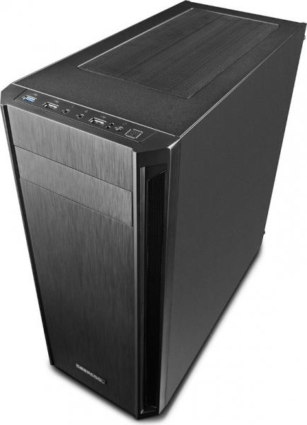"""CARCASA DEEPCOOL ATX  Mid-Tower, 1* 120mm fan (inclus), front audio & 1x USB 3.0, 2x USB 2.0, black """"D-SHIELD V2"""" 4"""